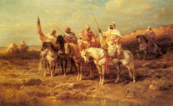 Arab Horseman By A watering Hole